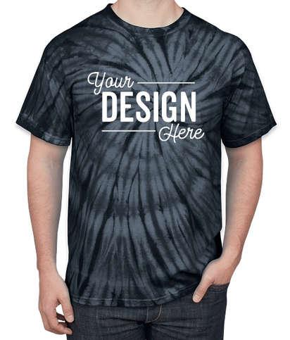 Dyenomite 100% Cotton Tonal Tie-Dye T-shirt - Black