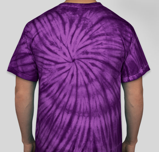 Peace. Love. Glosta. Tie-Dyed T-shirts in purple or aqua Fundraiser - unisex shirt design - back