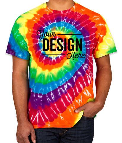 Dyenomite 100% Cotton Rainbow Tie-Dye T-shirt - Michelangelo