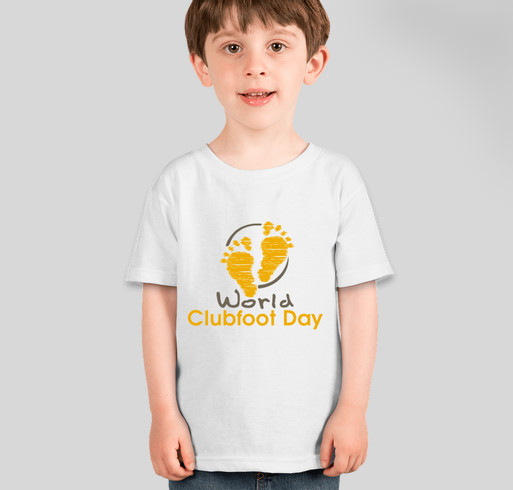 World Clubfoot Day! Fundraiser - unisex shirt design - front