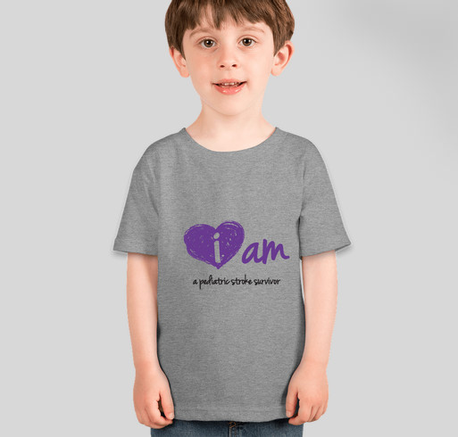 "2014 Pediatric Stroke Awareness ""I am"" Shirt from CHASA Fundraiser - ladies shirt design - front"