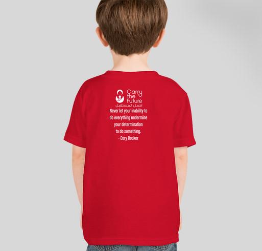 Carry the Future 2017 Race for Refugees - Kids Fundraiser - unisex shirt design - back