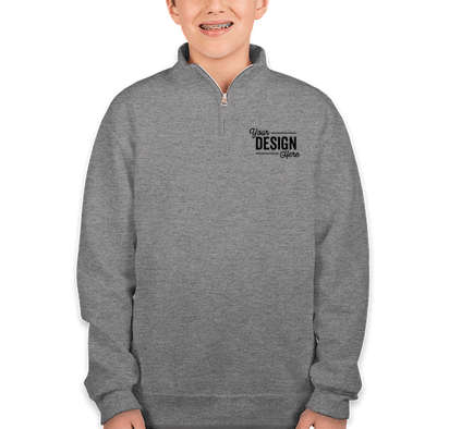 Jerzees Youth Nublend Quarter Zip Sweatshirt - Oxford
