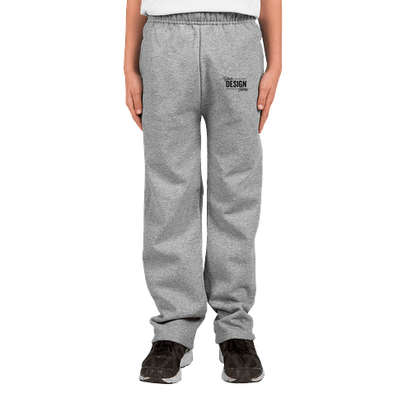 Jerzees Youth Open Bottom Sweatpants - Oxford