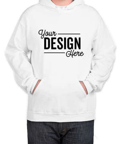 Jerzees Tall Nublend 50/50 Pullover Hoodie - White