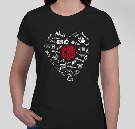Keep the Beat and rock the fight against congenital heart disease! Fundraiser - unisex shirt design - front