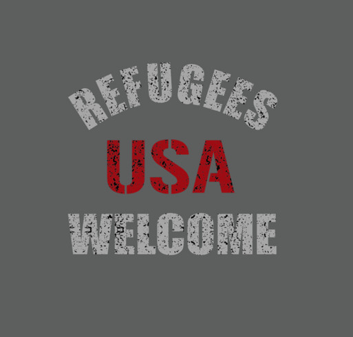 USArefugeeswelcomeMarch shirt design - zoomed