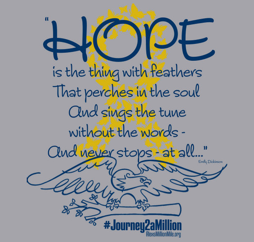 Hope is the thing... shirt design - zoomed