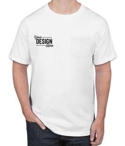 Hanes Authentic Pocket T-shirt - White