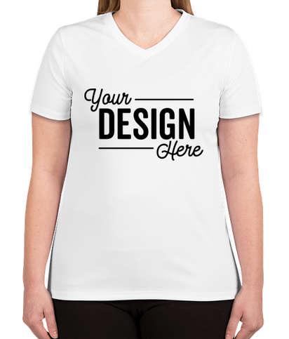 Hanes Women's Cool Dri V-Neck Performance Shirt - White