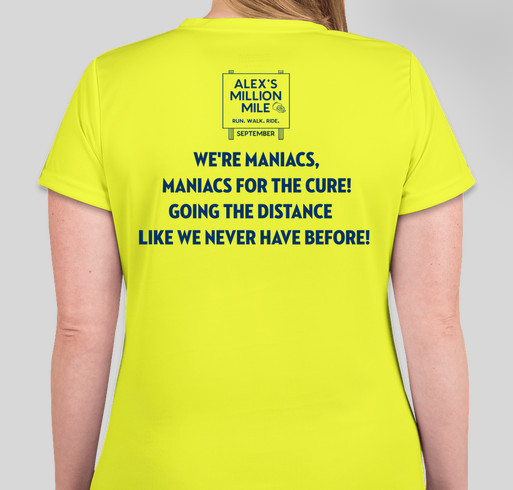 Million Mile Maniacs! Fundraiser - unisex shirt design - back