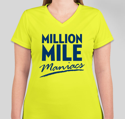 Million Mile Maniacs! Fundraiser - unisex shirt design - front