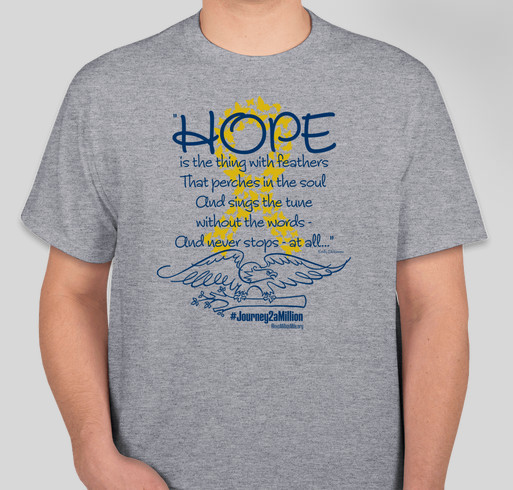 Hope is the thing... Fundraiser - unisex shirt design - front