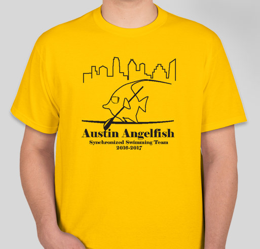 Austin angelfish sponsor t shirts custom ink fundraising for Custom t shirts austin texas