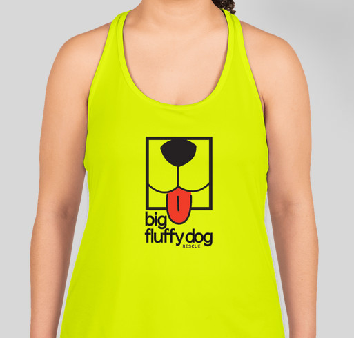 Big Fluffy Dog Rescue Tank Tops! Fundraiser - unisex shirt design - front