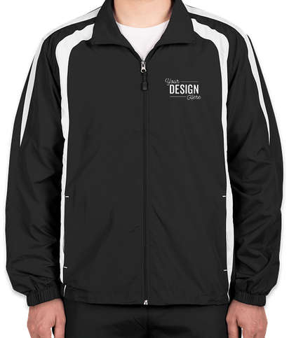 Sport-Tek Full Zip Colorblock Warm-Up Jacket - Black / White
