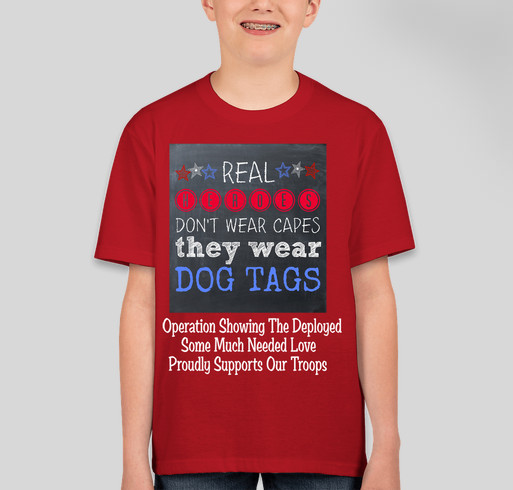 Operation showing the deployed some much needed love for How much is a custom t shirt