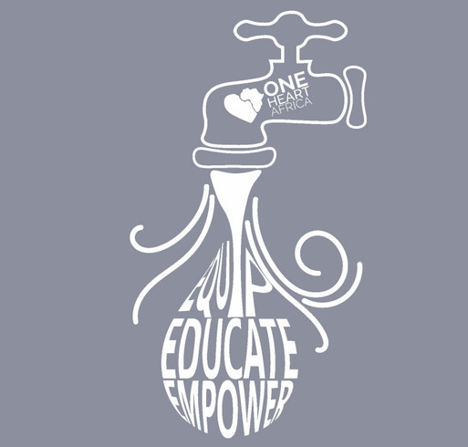 One Heart Africa - Water Relief Fundraiser shirt design - zoomed
