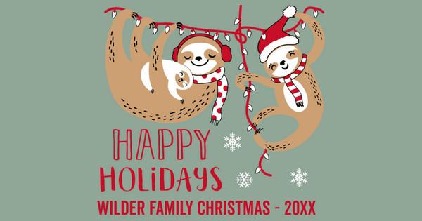 Sloth Family Christmas