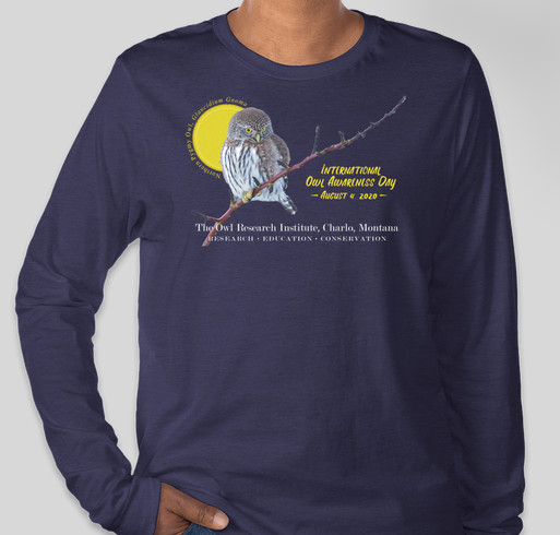International Owl Awareness Day 2020 Fundraiser - unisex shirt design - front
