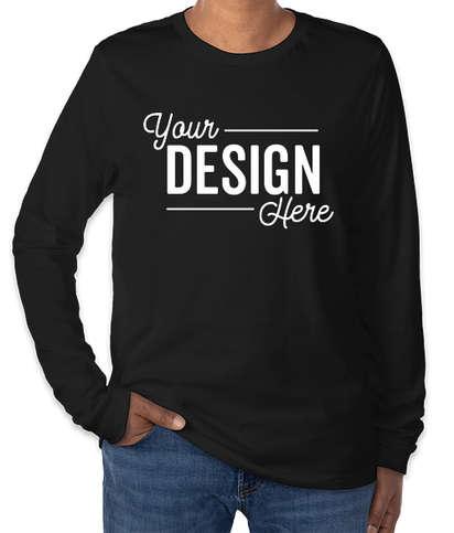 Bella + Canvas Tri-Blend Long Sleeve T-shirt - Solid Black Tri-Blend