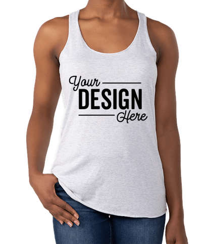 Next Level Women's Tri-Blend Racerback Tank - Heather White