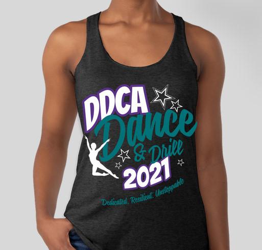 DDCA 2021: Dedicated, Resilient, Unstoppable Fundraiser - unisex shirt design - front