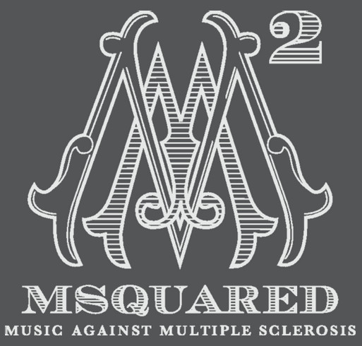 MSquared: Music Against Multiple Sclerosis shirt design - zoomed