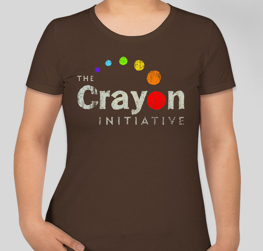 The crayon initiative distressed logo custom ink fundraising for Custom t shirts distressed
