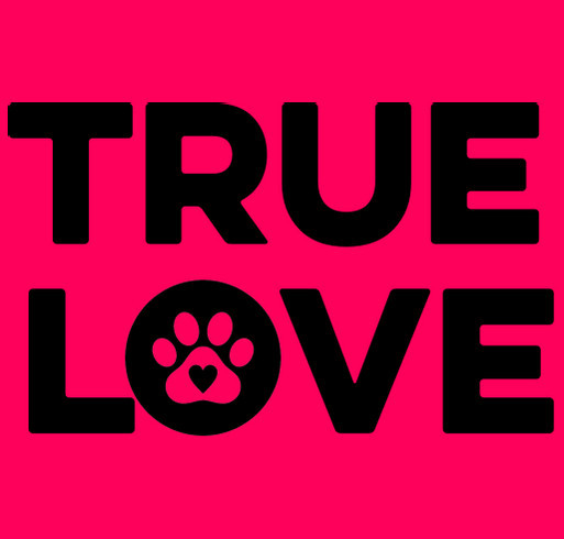 TRUE LOVE shirt design - zoomed