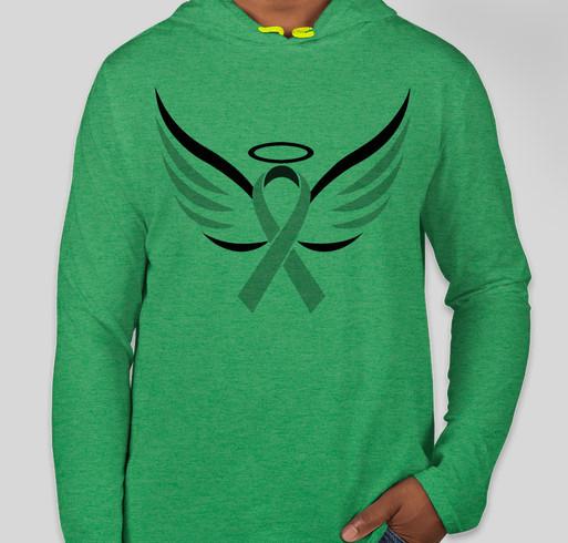 Anvil Hooded Long Sleeve T-shirt