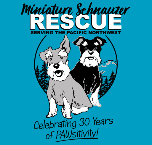 Miniature Schnauzer Rescue NW shirt design - zoomed