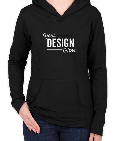Anvil Women's French Terry Pullover Hoodie - Black