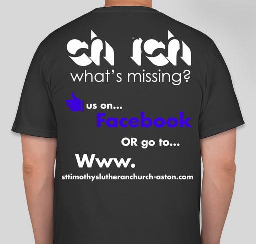 St timothy 39 s lutheran church t shirt fundraiser custom for Church t shirt fundraiser