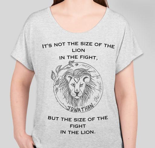 We Walk As Lions: Jonathan's Heart of a Lion Fundraiser - unisex shirt design - front