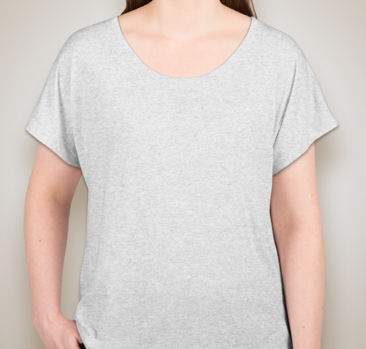 Next Level Ladies Tri-Blend Dolman T-shirt - Heather White