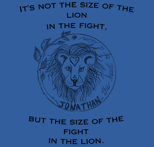 We Walk As Lions: Jonathan's Heart of a Lion shirt design - zoomed