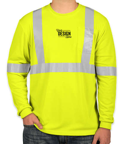 CornerStone Class 2 Long Sleeve Performance Safety Pocket Shirt - Safety Yellow
