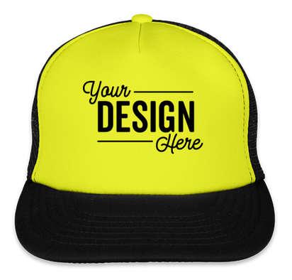 District Neon Flat Bill Snapback Hat - Neon Yellow