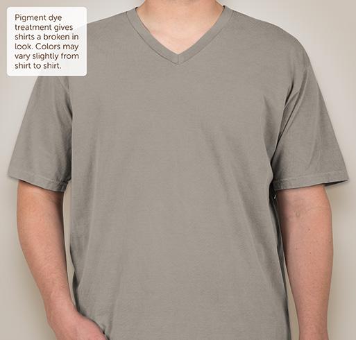 Comfort Colors 100% Cotton V-Neck T-shirt - Ice Blue