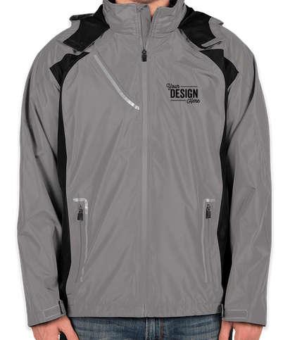 Team 365 Waterproof Hooded Jacket - Sport Graphite / Black