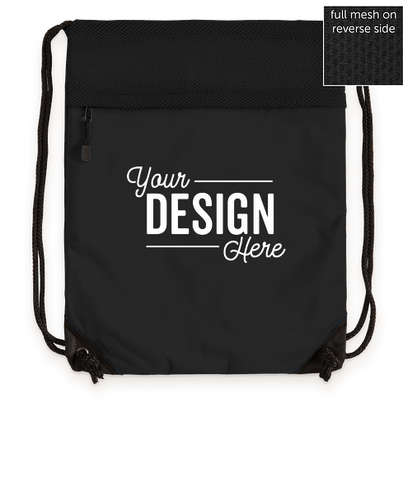 Port Authority Mesh Drawstring Bag - Black