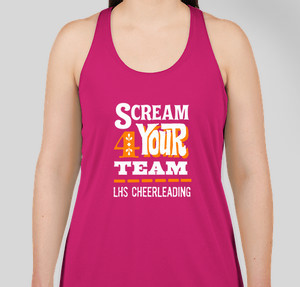 scream 4 your team - Cheer Shirt Design Ideas