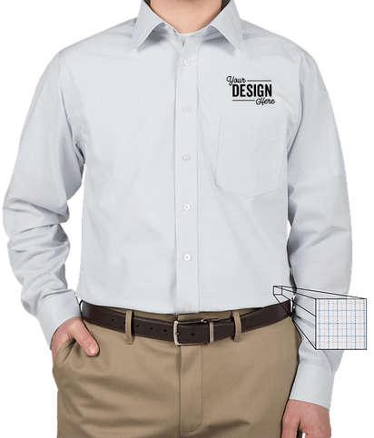 Devon & Jones Tattersall Dress Shirt - White / Silver / Slate