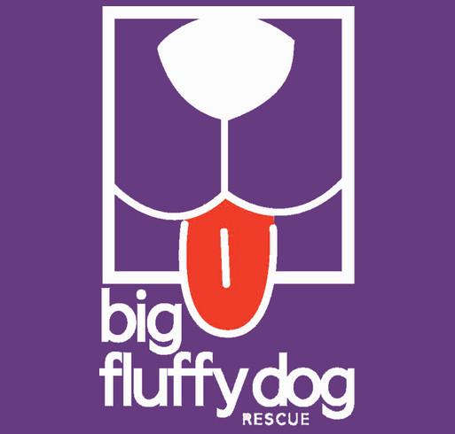 Big Fluffy Dog Rescue Rain Jackets shirt design - zoomed