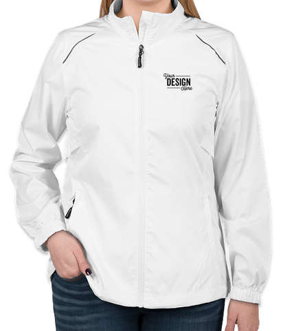 Core 365 Women's Lightweight Full Zip Jacket - White