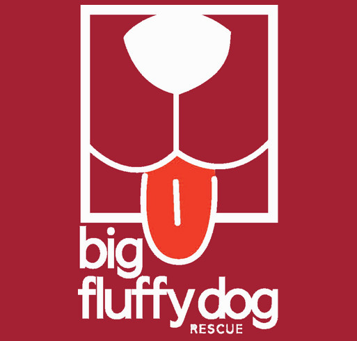 Big Fluffy Dog Rescue Rain Jackets shirt design - zoomed