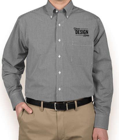 Van Heusen Gingham Dress Shirt - Black