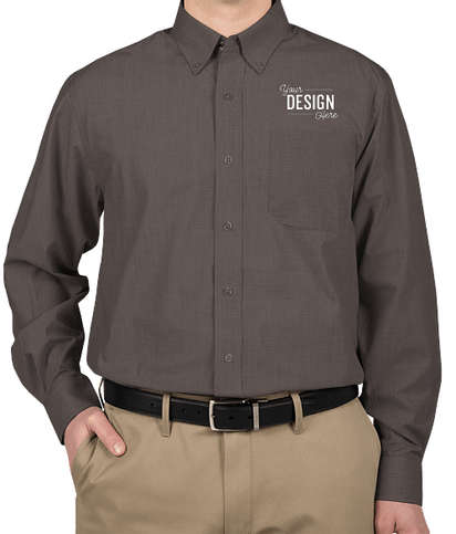 Port Authority Crosshatch Dress Shirt - Soft Black