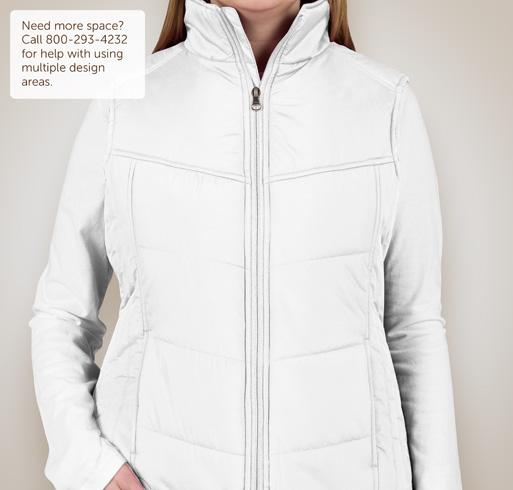 Port Authority Ladies Puffy Vest - White